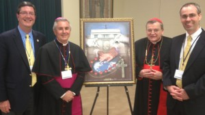 Jere Palazzolo, Bishop Ronald Gainer, Cardinal Raymond Burke & Brendan Wilson at Cardinal Burke's annual Canon Law Conference