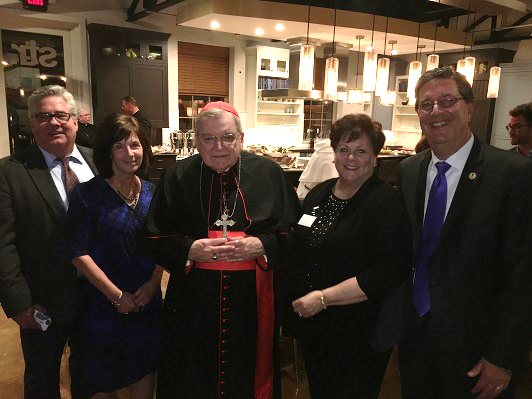Pat & Jere Palazzolo with Cardinal Burke and Joe & Julie Chovan